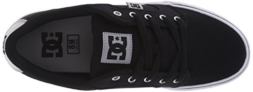 DC Men's Anvil TX Skateboarding Shoe, Black/Grey, 13 M US
