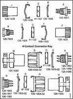 Cooper Interconnect 126-219 connector, mini hex, male panel recept w/hex nut&clip, solder cup term, 9 pin cont