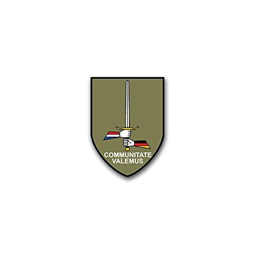 Aufkleber / Sticker - I Deutsch - Niederländisches Korps GE-NL Corps Niederlande Bundeswehr Heer Militär Wappen Abzeichen Emblem passend für VW Golf Polo GTI BMW 3er Mercedes Audi Opel Ford (5x7cm)#A1590