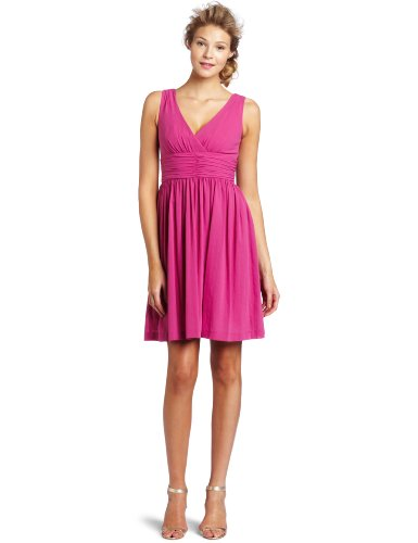 Trina Turk Women's Reina Ruched Bodice Dress, Violeta, 6