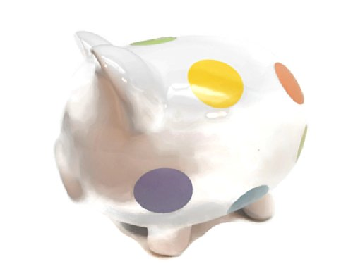 POKA-DOT PIGGY BANK