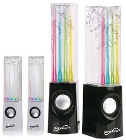 Supersonic SC-1122 4 Multi-colored LED Water Dancing Light Show With 2 Rich Stereo Sound Speakers. High Fidelity Stereo That Connects to Your Ipad, Iphone, Ipod, Smartphone, Android, Tablet, Laptop, Computer, MP3 Player, with Built-in Amplifier, Lights an