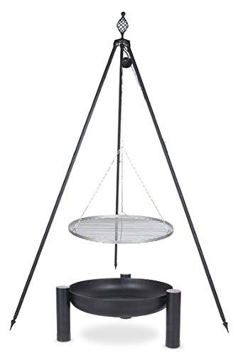 Schwenkgrill mit Dreibein Royal, Rost 50 cm aus Edelstahl, Feuerschale #38 60 cm online kaufen