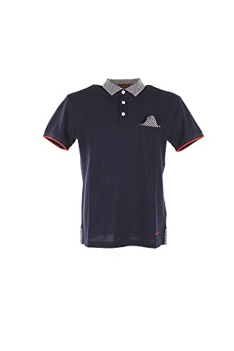 Polo Uomo Henry Cotton's 83308-50-84498 Blu Primavera/Estate Blu M