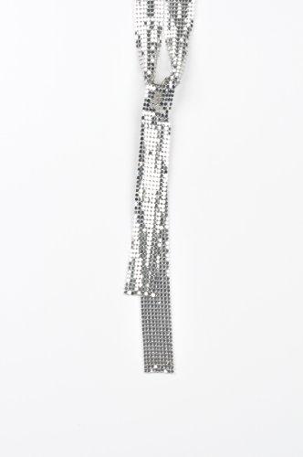 Jennifer Lopez Silver Tie Style Long Necklaces for Women