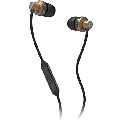 Skullcandy Titan with Mic Earphones/Earbuds Stereo Headphone - Copper/Black
