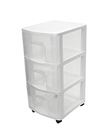 ETA hand2mind White Plastic Medium 3 Drawer Storage Chest