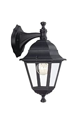 Massive LIMA Down Wall Lantern - Black (Requires 1 x 60W E27 Bulb)