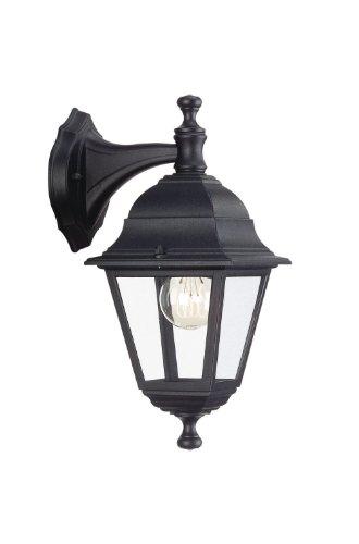 Massive 71426/01/30 Lima - Lanterna a parete, colore: Nero