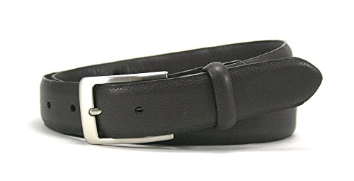 Leather Island 32mm Soft Dark Brown Napa Leather Belt
