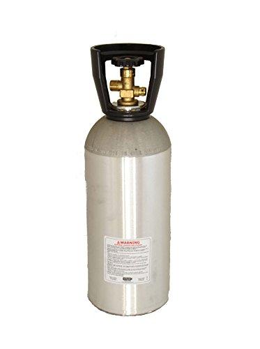 Handle and Black Powder Coat 15 lb CO2 Aluminum Carbon Dioxide Tank Cylinder