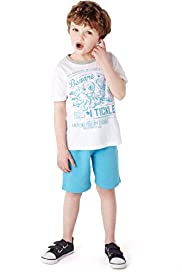 2 Piece Cotton Rich Tickle T-Shirt & Shorts Outfit