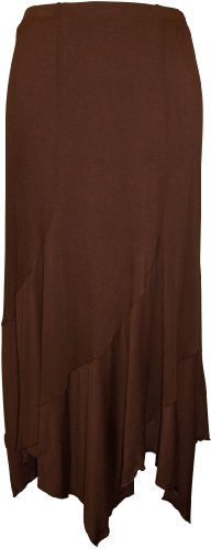 Jersey Fairy Hem Skirt Junior Plus Size, 3X, Brown