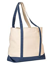 Beach Tote Bag, Color: Natural/Storm, Size: One Size