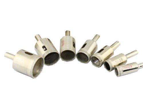 Generic Diamond Coated Drill Accessories Bits Hole Saw Glass Granite Cutter Opener Bits 10 Pcs Set Silver