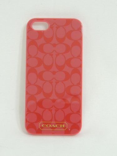 Best Price COACH EMB LQ IPHONE 5 CASE CORAL