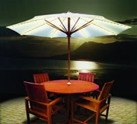 Brella Lights Outdoor Patio Lighting System for 6-Rib Umbrellas - White