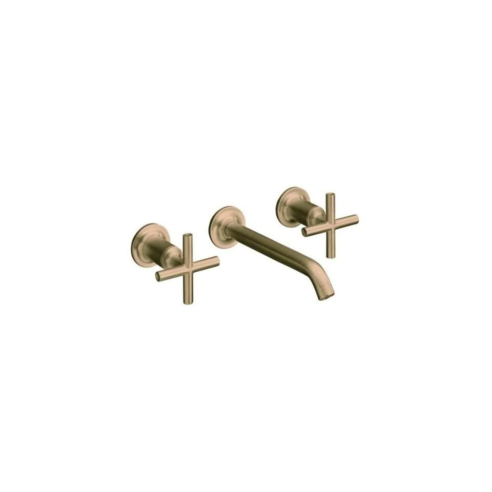 Kohler Purist Brushed Bronze Wall Mount Bath Sink Faucet, 8 1/4 Spout