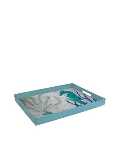 American Atelier Seahorse Tray, Blue