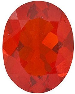 AfricaGems - Oval Shape Mexican Fire Opal Natural