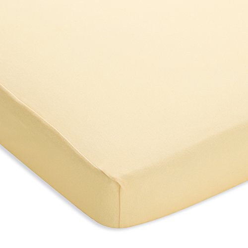 BreathableBaby Plush Sheet, Mist, Yellow