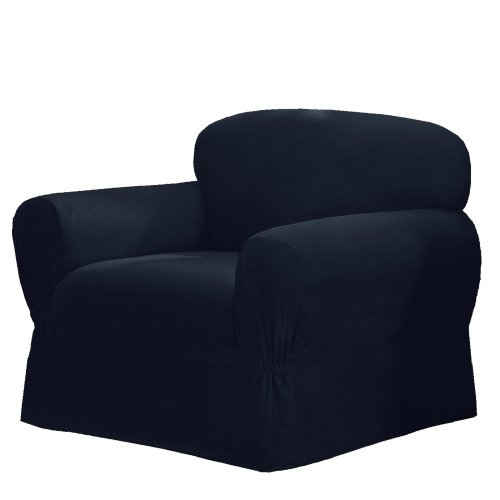 Maytex Mills 1-Piece Canvas Slipcover For Chair, Navy front-51433