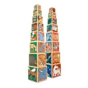 Toy / Game Awesome M & D: Animal Nesting Blocks - Set Of 8 Wooden Animal Blocks Stack Up 3 Feet Tall front-943609