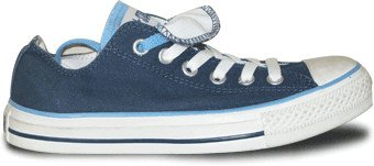 Converse Chuck Taylor Double Tongue Ox Shoes - Navy / White - UK 5