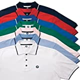 BMW Mens Tipped Polo Pink L