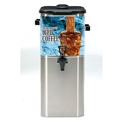 Wilbur Curtis TCOC421G000 Oval Tea Dispenser, Stainless Steel, 4-Gallon, 21.75