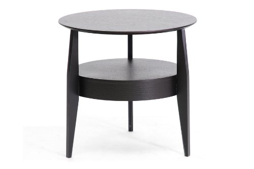 Cheap Baxton Studio Gretton Wood Modern End Table with Drawer, Black (CT-173)