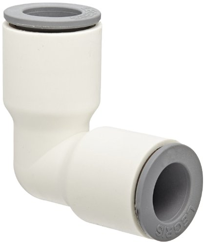 """Legris 6302 56 00Wp2 Liquifit Push-To-Connect Fitting, 90 Degree Union Elbow, 1/4"""" Tube Od"""