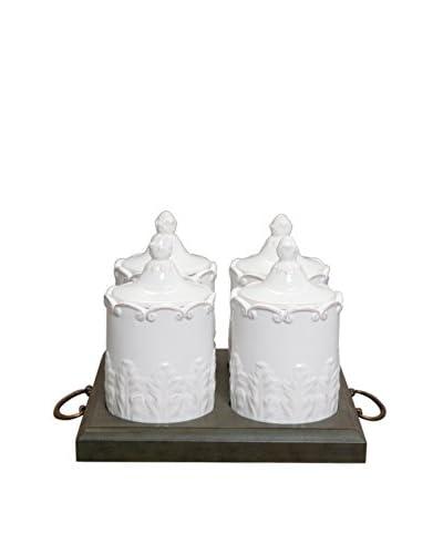 Isaac Mizrahi Chateau Fleur Mini Condiment Jar Set Modern Classics Deco And Furniture Offer