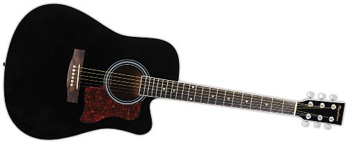 Spectrum Ail 128 Full Size Cutaway Acoustic Guitar Pack, Black