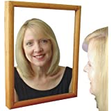 Wood Frame Mirror Hidden Camera with Built-In DVR