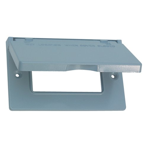 Sigma Electric 14249 1-Gang Horizontal Gfci Cover, Grey