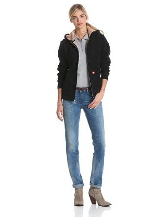Dickies Women's Sherpa Lined Fleece Jacket,Black,X-Small