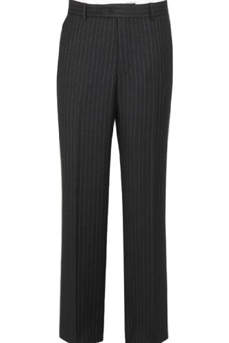 The Label Grey/Pink Stripe Flat Fronted Trouser 46inch Waist 31inch, Grey/Pink Stripe