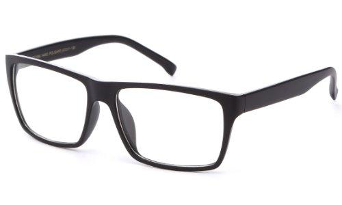 Newbee Fashion® - IG Unisex Retro Squared Celebrity Star Simple Clear Lens Fashion Glasses