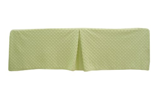 American Baby Company 171SS-CE Heavenly Soft Mini/Porta Crib Bed Skirt (Celery)