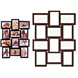 OM Arts Wooden Collage Photo Frame Sweet Long Lasting Memories (23 Cm X 24 Cm X 2.5 Cm, 124212)