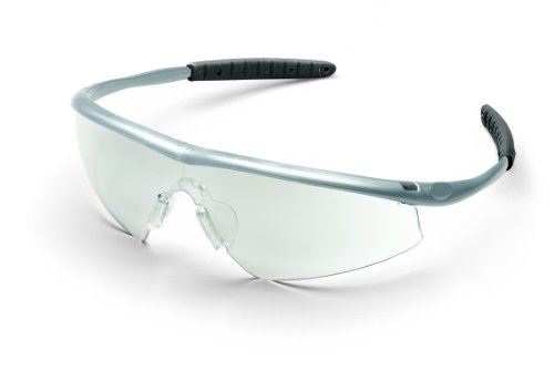 Mcr Safety Tm149 Tremor Sleek Hingeless Dielectric Safety Glasses With Steel Frame And Indoor/Outdoor Clear Mirror Lens