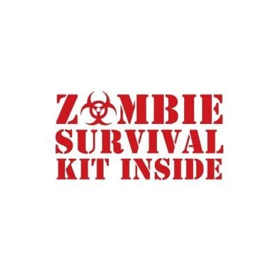 "Amazon.com: ZOMBIE SURVIVAL KIT INSIDE - 8"" RED (IKON SIGN"