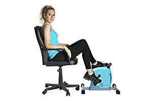 GymMate - Turns any chair into an exercise bike - Premium Quality Magnetic Mini Exerciser - Silky smooth, quiet impact free resistance excellent for home, office or therapeutic use and a great alternative to cumbersome upright bikes. Work out both legs and arms as well as the cardiovascular system. Colour Sea Blue