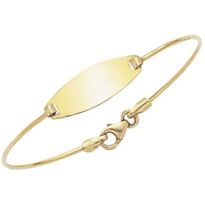 18K Yellow Gold Child ID Bangle Bracelet - 45 mm Diameter
