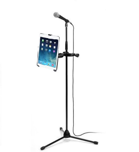 Heavy Duty Yoke Clamp Mike Microphone Stand Mount Holder For Apple Ipad Air