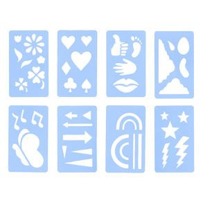 Amazon.com: Face Painting Stencil Set - Over 36 stencil