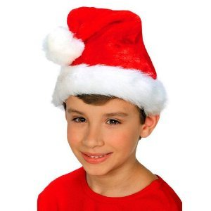 Deluxe Child Plush Santa Hat