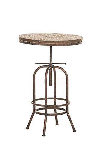 CLP-Bartisch-BRIGHTON-im-Industrial-Design-Materialmix-aus-Holz-und-Metall-Hhe-verstellbar-70-90-cm-Tischplatte--60-cm-bronze