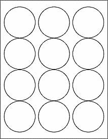 Amazoncom 6 sheets 72 2 1 2 inch blank round circle for Half inch round labels